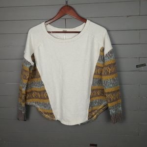 Free People Pullover with knitted Sleeves